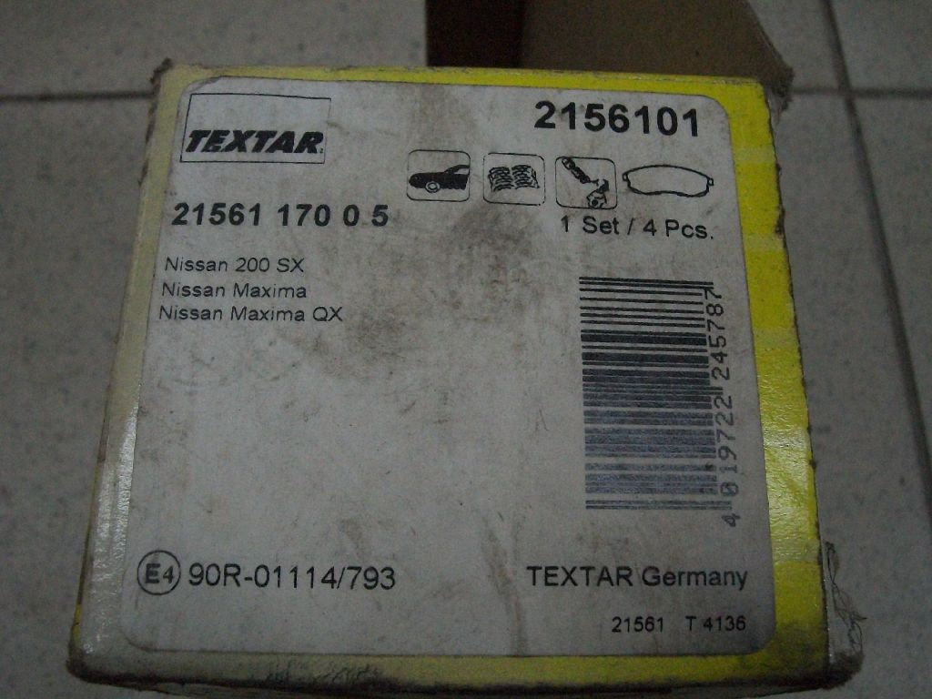 Колодки тормозные передние к-кт 2156101
