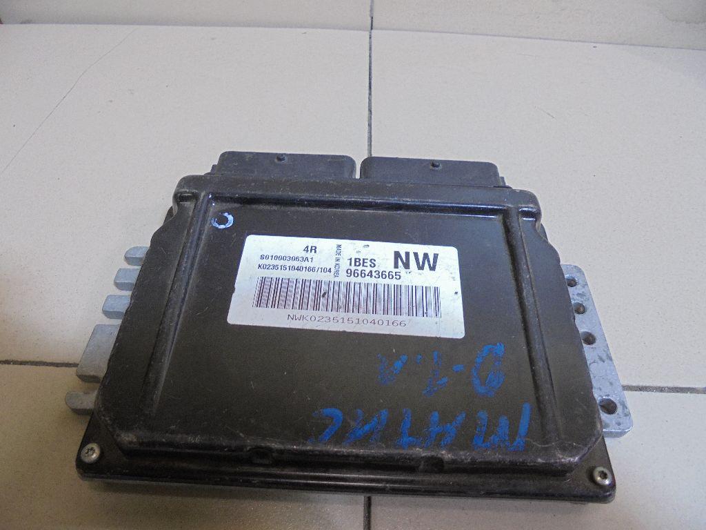 Блок управления двигателем 96643665