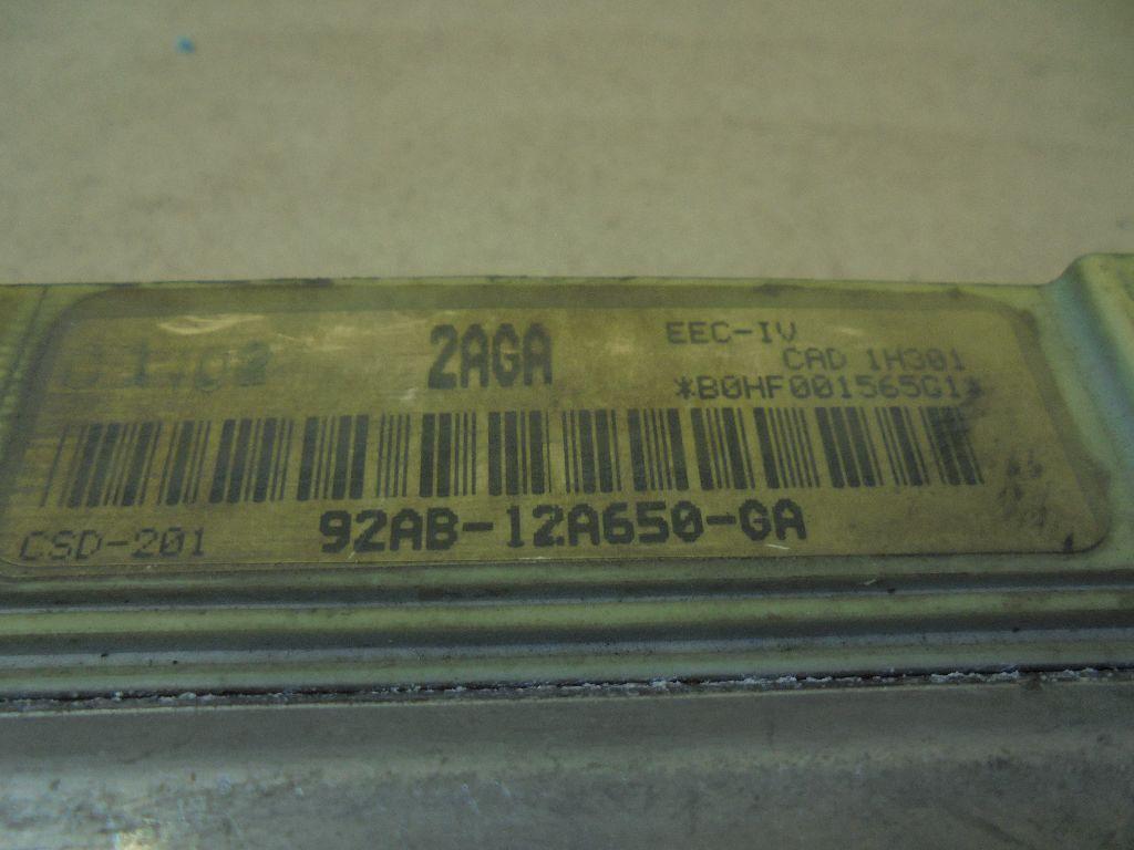 Блок управления двигателем 92AB12A650GA