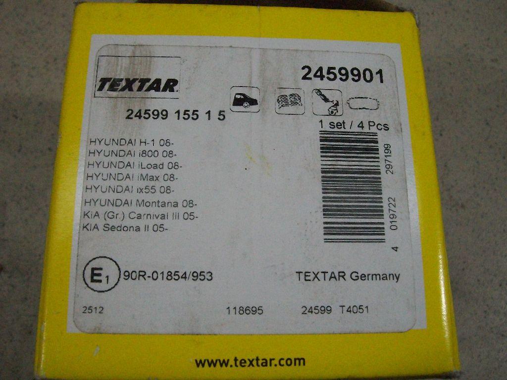Колодки тормозные задние дисковые к-кт 2459901