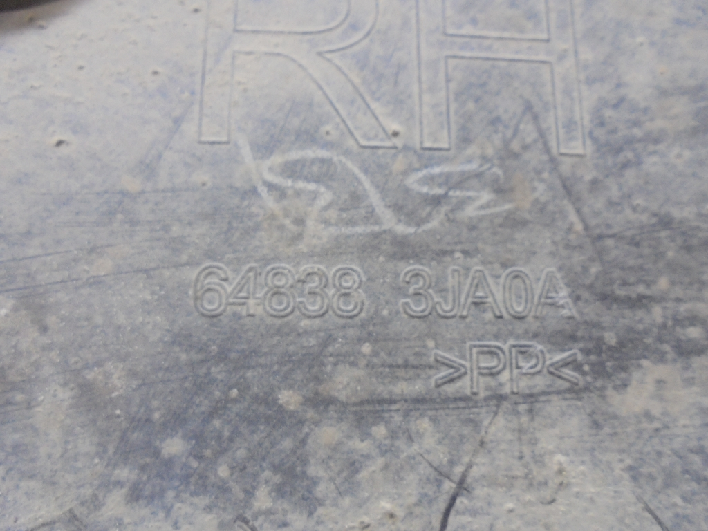 Пыльник двигателя боковой правый 648383JA0A
