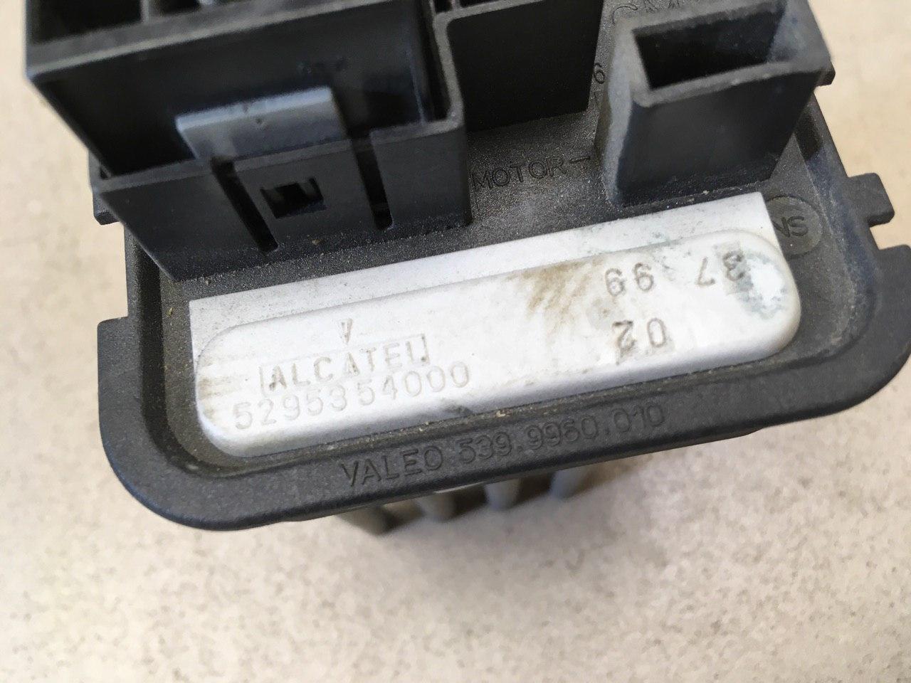 Резистор отопителя 90566802