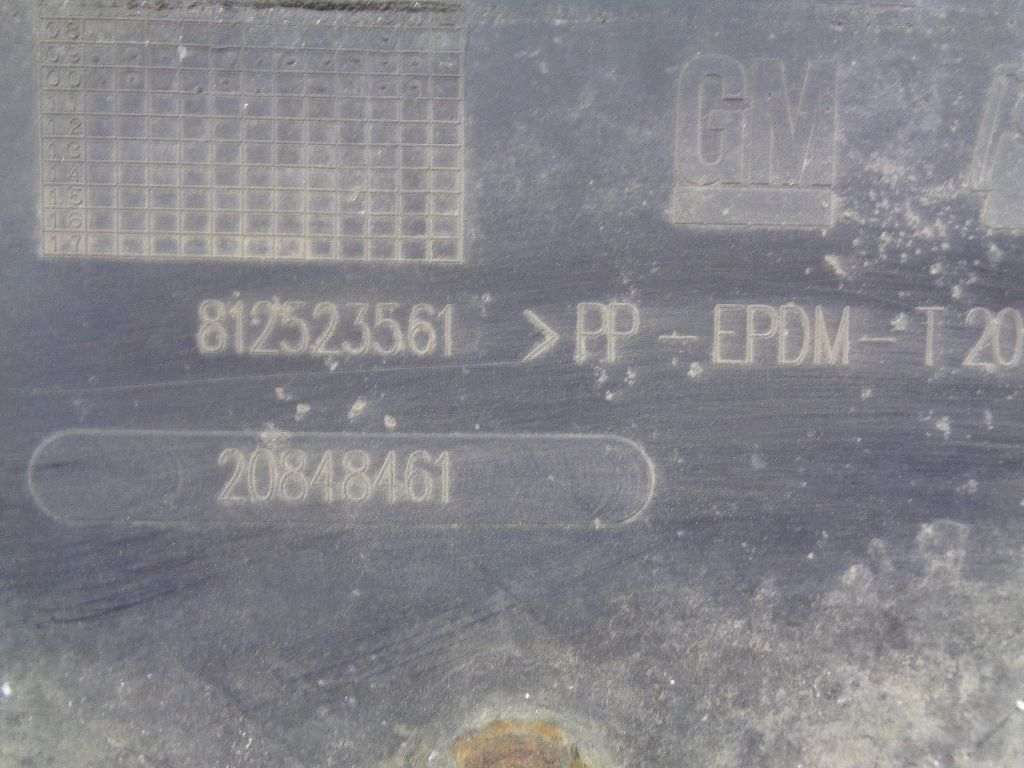 Пыльник двигателя центральный 20848461